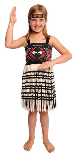 Girl S 3 Piece Kapahaka Maori Costume