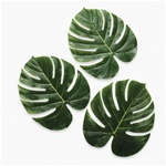 GIANT POLYSILK MONSTERA LEAVES / Pack of 12