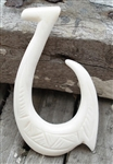 CARVED BONE HOOK PENDANT