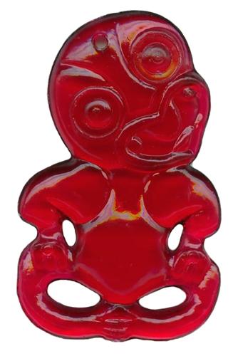 2 5 Quot Red Platic Maori Hei Tiki