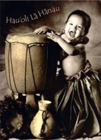 Ka Opuu Baby Birthday Card