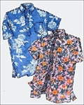 PATTERN-PLACKET ALOHA SHIRT