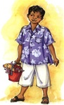 PATTERN-BOYS ALOHA SHIRT