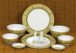 LAUHALA PALM MELAMINE DINNERWARE SET / 10 PIECES