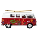 1962 VOLKSWAGEN PEACE BUS HAWAIIAN COLLECTIBLE SURF CAR