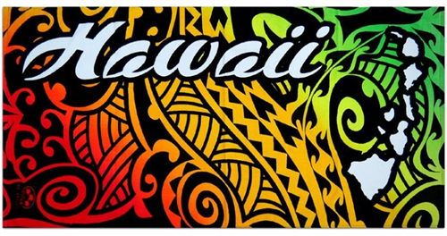 Tribal Hawaii Beach Towel