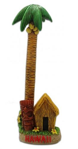 Palm Tree Tiki Hut Ballpoint Pen Amp Holder Set