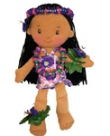 "8.5"" NIKKI SOFT HAWAIIAN DOLL"