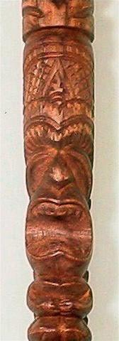 41 Quot Wood Tiki Walking Stick