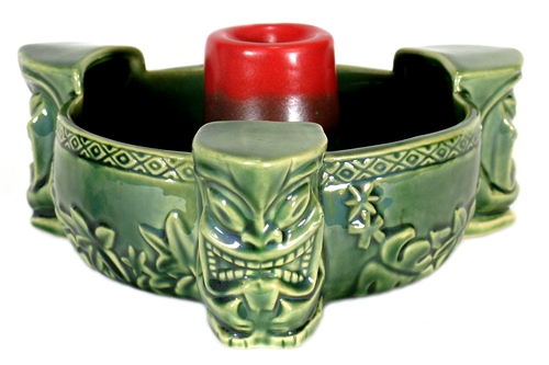 Pahupahu Flaming Volcano Tiki Bowl Limited Edition