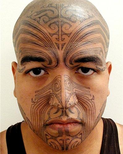 What Does The Maori Chin Tattoo Mean: MEN'S MAORI MOKO TEMPORARY FACE TATTOO KIT (1