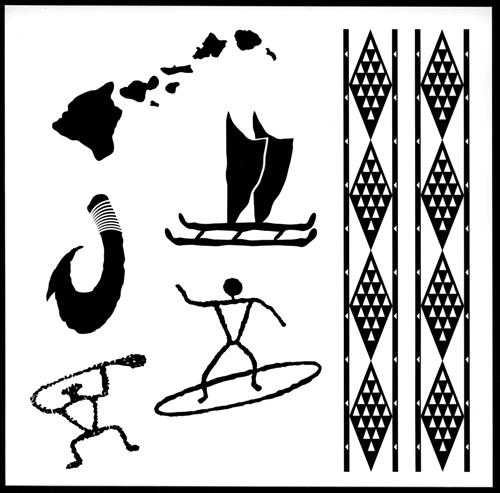 old hawaii temporary tattoos