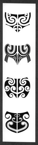 Women S Maori Moko Chin Body Temporary Tattoos: WOMEN'S MAORI MOKO TEMPORARY CHIN TATTOOS / SET OF 4