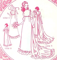 VINTAGE UNCUT HOLOKU WEDDING DRESS PATTERN - SIZE 12 - Pacifica 3009