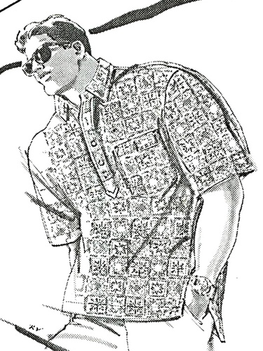 Vintage Uncut Men S Pullover Aloha Shirt Pattern Sizes