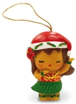 ISLAND YUMI  RESIN HULA GIRL ORNAMENT