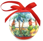 NOSTALGIC HULA SPECKLED CHRISTMAS ORNAMENT