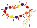 CHILI PEPPER & PAPER ROSES FIESTA LEI OR HIPBAND