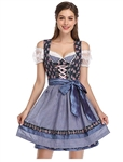 German Bavarian Dirndl Oktoberfest Costume - Size Large