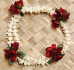 DOUBLE PIKAKE WITH RED ROSES HEADBAND
