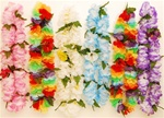 LARGE FLUFFY PLUMERIA LEIS/6 ASSORTED COLORS