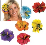 HIBISCUS HAIR CLIPS / 12 PCS