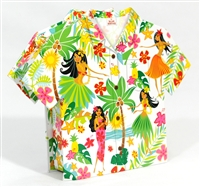 HULA HONEYS ALOHA SHIRT SHAPED GIFT BOX