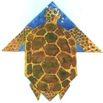 HONU TURTLE ORIGAMI GREETING CARD /GIFT CARD OR MONEY ENCLOSURE