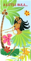A LITTLE HULA, A LITTLE MOOLA MONEY ENCLOSURE CARD