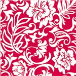 RED & WHITE PAREO GIFT WRAP / 2 ROLLS