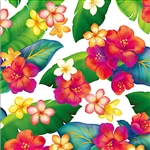 ISLAND BLOSSOMS FLORAL GIFT WRAP / 2 ROLLS