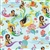 ISLAND HULA MERMAIDS FLORAL GIFT WRAP / 2 ROLLS