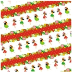 HOLIDAY HULA HONEYS - RED GIFT WRAP/ 2 ROLLS