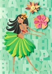 SPECIAL DAY HULA CARD