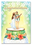 DELUXE ALOHA WISHES WEDDING/ANNIVERSARY ART CARD