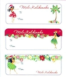 HOLIDAY HULA HONEYS ADHESIVE TAGS/12