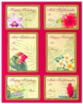 FESTIVE FLORAL ADHESIVE GIFT TAGS / 18