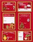 HOLIDAY DELIGHTS ADHESIVE GIFT TAGS / 18