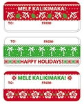 UGLY CHRISTMAS SWEATER ADHESIVE TAGS/12