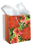 FESTIVE HIBISCUS GIFT BAG - MEDIUM