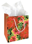 FESTIVE HIBISCUS GIFT BAG - SMALL