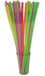"17"" LONG BENDABLE PLASTIC NEON STRAWS / CASE OF 1600"