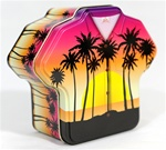 PALM TREE SUNSET ALOHA SHIRT GIFT TIN