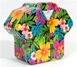 HAWAIIAN FLORAL ALOHA SHIRT GIFT TIN