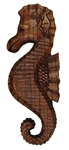 HAND CARVED WOODEN SEAHORSE PLAQUE - LEFT FACING