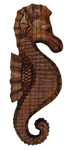 HAND CARVED WOODEN SEAHORSE PLAQUE - RIGHT FACING