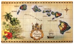 ISLANDS OF HAWAII MAP HEAVYWEIGHT DOOR MAT