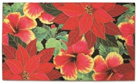 FESTIVE HIBISCUS HEAVYWEIGHT DOORMAT