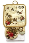 3 PC KITCHEN TOWEL SET - MAP OF HAWAII