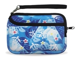 ZIPPERED WRISTLET PURSE - BLUE HONU